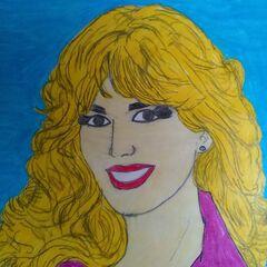 a portrait of Janice Pennington, hand drawn by a fan