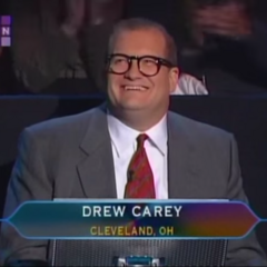 Drew competing on a celebrity edition of <i>Who Wants to be a Millionaire?</i>