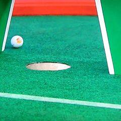 Drew missed the putt.