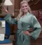 Rachel in Satin Sleepwear-46