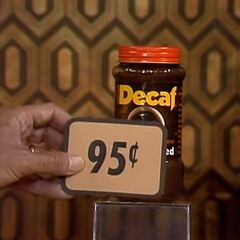 Second, she picks 2 Nestle Decaf coffees which come to...