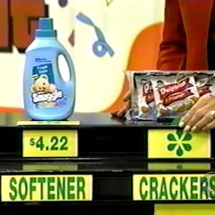 She says the crackers are less expensive than the Snuggle softener.