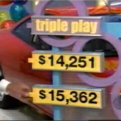 $15,362 is his choice. Note that Bob Barker is getting ready to pull the price back.