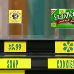 He says the cookies are more expensive than the soap.