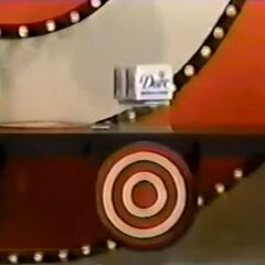 The hidden bullseye was behind the Dove beauty bar.