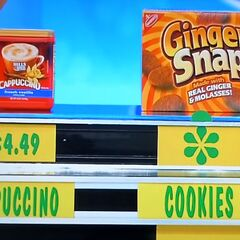 Scott says the Nabisco Ginger Snaps cookies are less expensive than the Hills Bros cappuccino mix.