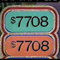 It's $7,708 and the contestant wins!