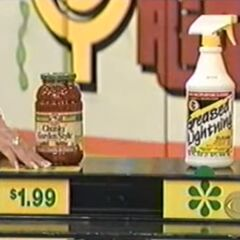 Joel says the Greased Lightning cleaner is more expensive than the Francesco Rinaldi pasta sauce.