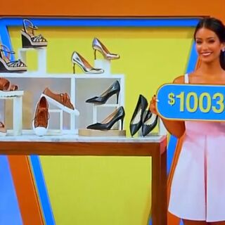 The price of the designer shoes.