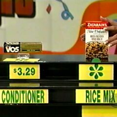 Shelly says the Zatarain's rice mix is less expensive than the Alberto V05 conditioner.