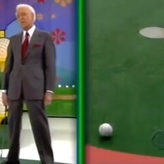 Bob missed the putt.