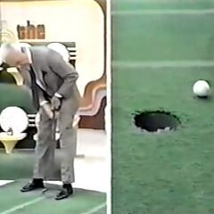 Bob has missed his inspiration putt.