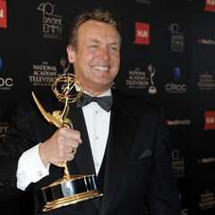 Doug all smiles after winning his 1st Emmy for Lead Actor