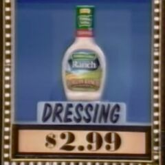 The dressing is $2.99, not $3.55.