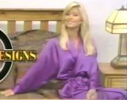 Teri Harrison in Satin Sleepwear-7