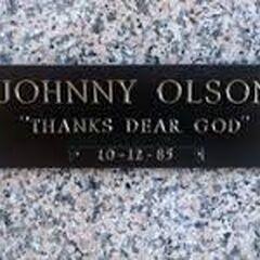 Johnny Olson's Tombstone.