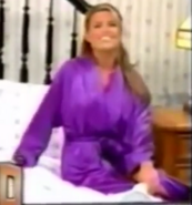 Rachel in Satin Sleepwear-5