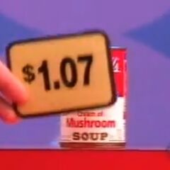 Next, she picks 7 soups which come to $7.49 for a total of...