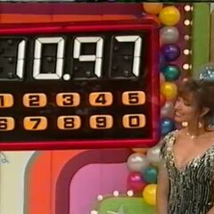 The contestant's total