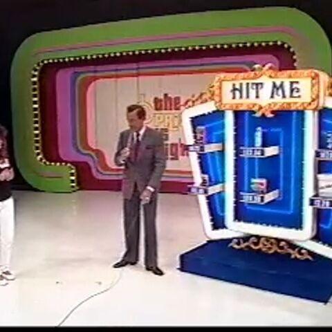 The 1980s' Hit Me setup. It has a navy blue platform.
