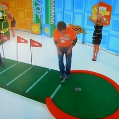 The contestant has also made the putt!