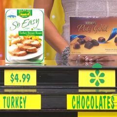 Hershey's Pot of Gold chocolates are more expensive than the Jennie-O Turkey turkey breast.