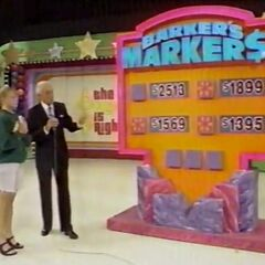She should have moved the marker to $2,513. So she doesn't win the prizes <i>or</i> the $500.