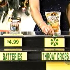 Dwayne says the Robitussin Sunny Orange throat drops are less expensive than the Rayovac batteries.