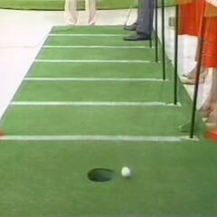 Bob has just missed his inspiration putt.
