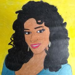 a portrait of Kathleen Bradley, hand drawn by a fan