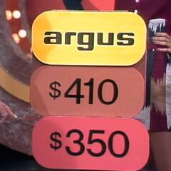 Is the price of the Argus camera $410 or $350?