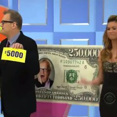 His second punch, another $5,000. He decides to throw it away.