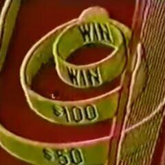 Doug Davidson's practice ball went into the $100 circle.