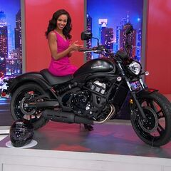 And here she is revving up and ready to hit the mean streets on this BAD Kawasaki Motorcycle !!!