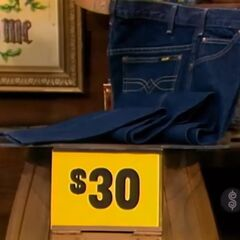 The price of the jeans is $30.