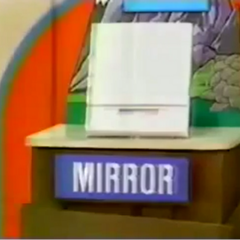 Joy plays Cliff Hangers. First up is a mirror.
