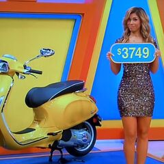 The price of the Vespa motorscooter.