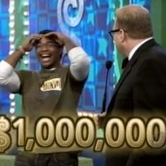 If he has all 5 numbers right on his first try, he will win $1,000,000.