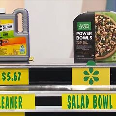She says the Healthy Choice Power Bowls entree is less expensive than the CLR cleaner.