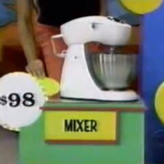 He thinks the mixer is $98. He is correct.