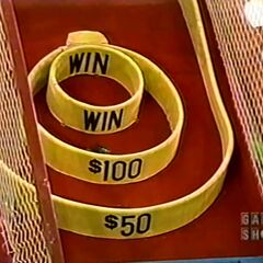 The contestant's practice ball went into the $100 circle.