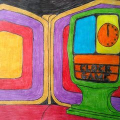 a custom drawing of the Clock Game with the more familiar color pattern