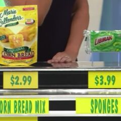 She says the sponges are more than the corn bread mix. She is correct.