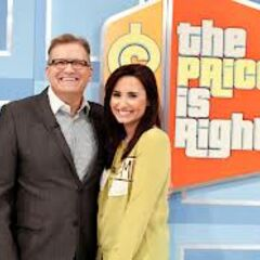 Drew and singer Demi Lovato smile cheek to cheek for the cameras
