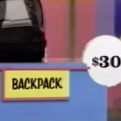She thinks the backpack is $30. She is correct.