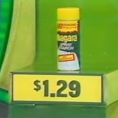 If he had kept going, he would've picked the spray starch. And he would've <i>won</i> $10,000!