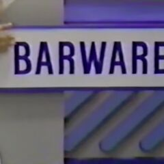 First, she picks the barware which is...