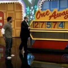 On his first try, he has 3 numbers right, which means he doesn't get the $1,000,000.