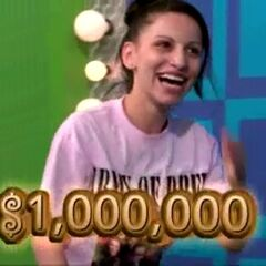 If she wins both prizes in less than 10 seconds, she will win $1,000,000.