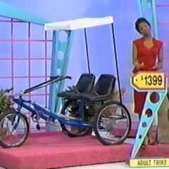 He should've picked the Worksman Cycles team dual trike. And, the price of the Samsung washer & dryer is $2,398.